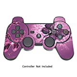 Skins for PS3 PlayStation 3 Controller Decals Sony Play Station 3 Wireless Controllers Modded Stickers Game Protective Skin Decal - Lavender Butterfies [ Controller Not Included ] by GameXcel ?