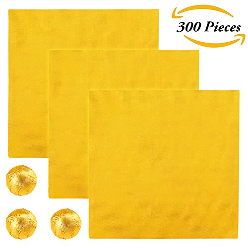 2cm Schokolade Candy Wrappers Gold Aluminium Folie Papier Geschenkpapier für Süßigkeiten Verpackung oder Dekoration, 10,2 cm (Gold Wrapper, Candy)