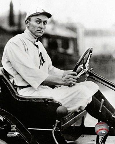 Detroit Tigers Uniform (Ty Cobb (1886-1961) Sits Behind The Wheel of a car Wearing his Detroit Tigers uniform. 1900s. Photo Print (40,64 x 50,80 cm))