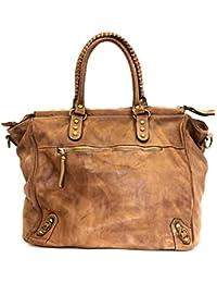 845b9bdd1c8f7 BZNA Bag Ella cognac Italy Designer Damen Handtasche Ledertasche  Schultertasche Tasche Leder Shopper Neu