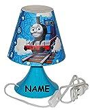 Unbekannt Nachttischlampe Thomas die Lokomotive - incl. Name - 29 cm hoch - Tischleuchte für Kinder Kinderzimmer - Jungen Eisenbahn Lok Zug - Tischlampe Lampe Stehlampe