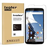 Nexus 6 Protection écran, iVoler® Film Protection d'écran en Verre Trempé Glass Screen Protector Vitre Tempered pour Motorola Google Nexus 6- Dureté 9H, Ultra-mince 0.20 mm, 2.5D Bords Arrondis- Anti-rayure, Anti-traces de doigts,Haute-réponse, Haute transparence- Garantie de Remplacement de 18 Mois