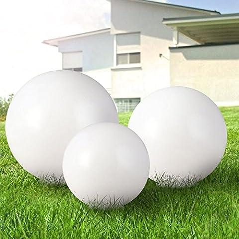 Set de 3 luminaires solaires LED jardin extérieur terrasse boule