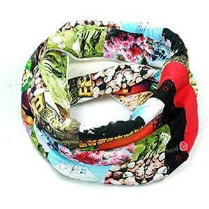Kuscheliger Loop Schlauchschal Beletage Multicolor mit SpitzeHM