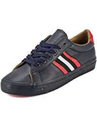 Devee Wear Me Striped Chuck 2.0 Navy Synthetic Leather Low Top Gum Sole Shoe