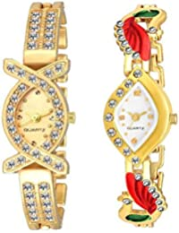 Freny Exim New Arrival Diamond Studded Attractive Beautiful Peacock Kundan Bracelet Stylish Analogue White Dial...
