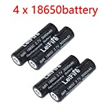 Best 18650 Batteries - High Power 3.7V 18650 Batteries, 4 Pieces Batteries Review