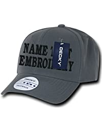 custom diy embroidery personalized name text curve bill snapback cap dad hat  (charcoal) 1779d1cc1e29