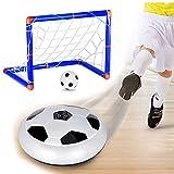 Cozywind Indoor Fußball Air Power Fußball mit LED Beleuchtung Kinder, Klein Fußballtor (Air Soccer+Aufblasbare Fußbälle+ Fußballtor)