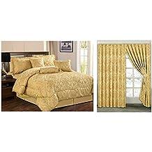 couvre lit rideaux Amazon.fr : Couette King Size   Or couvre lit rideaux