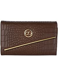 Gio Collection Women's Brown Wallet - B07CQNMS93