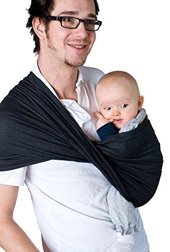 Babytuch - das Tragetuch ohne Knoten (7, Samtschwarz)