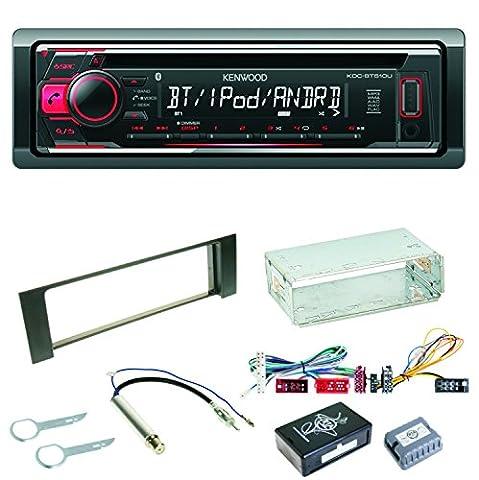 Kenwood KDC-BT510U Autoradio USB Bluetooth FLAC CD Einbauset für Audi