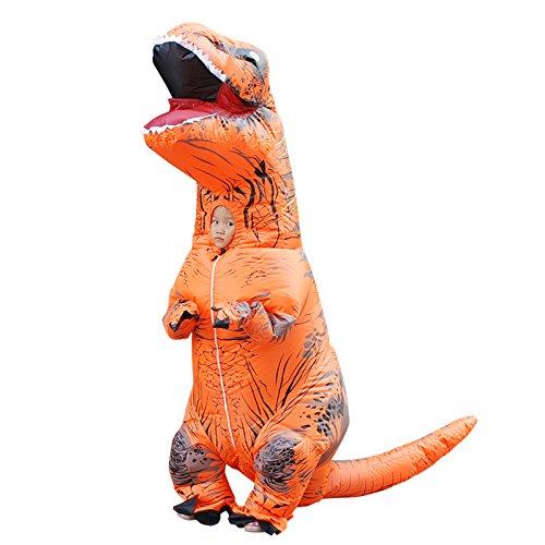 Dinosaurier Blow Up Kostüm - JJAIR Dinosaurier aufblasbare Kostüm Phantasie Overalls Halloween Blow up Kostüme Erwachsene/Kinder (Orange),Kid