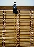 Jalousie holz / Jalousie fenster / Jalousie fenster / Jalousie bambus, breite x länge = (150 x 135 cm, Braun) - 4