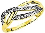 Amor Damen-Ring 333 Gelbgold glänzend Zirkonia weiß 502337