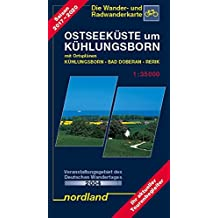 Ostseeküste um Kühlungsborn 1 : 35 000: Rerik, Kröpelin, Bad Doberan mit Ortsplan Ostseebad Kühlungsborn