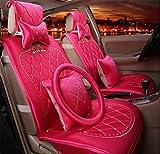 DIELIAN Auto-Sitzbezug für Frauen im europäischen Stil hochwertigen gold Samt