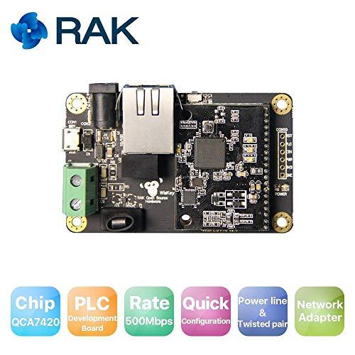 RAKWireless WisPLC Pro PLC Module Development Board, Power Line/Twisted Pair/Ethernet Interface|500Mbps, Support Network Adapter Hdtv Power Solution Kit