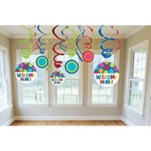 Cabana Dot Welcome Home Swirl Decorations