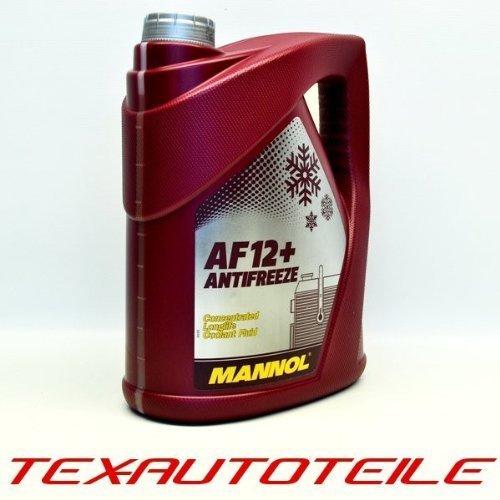 5 Liter Mannol AF12+ Kühler Frostschutz für G12+ G12 Plus Konzentrat rosa
