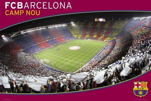 Póster de balón de fútbol Barcelona Camp Nou y accesorio para sujetar
