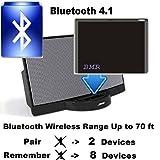 bmr Adaptateur Récepteur de musique Bluetooth A2DP pour Bose Sounddock speakers- Portée sans fil jusqu'à 60m; extra long pour iPhone, Samsung, HTC et tous les Téléphone portable avec fonction Bluetooth