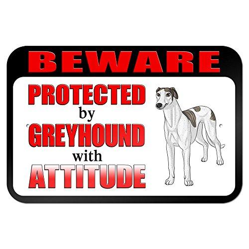 graphique-et-plus-229x-152cm-beware-of-the-protg-par-greyhound-avec-attitude-planche-panneau-en-mtal