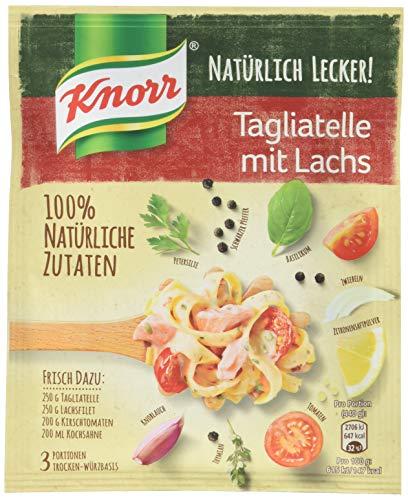 Knorr Natürlich Lecker Tagliatelle mit Lachs Fix 3 Portionen (19 x 39 g)