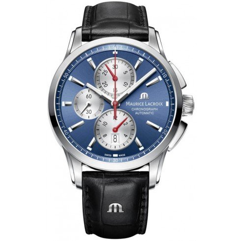 MAURICE LACROIX Herren Uhr Analog Automatik mit Leder Armband PT6388-SS001-430