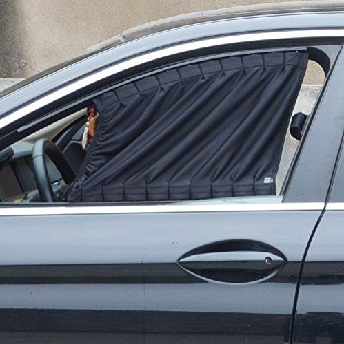 Dayiss® Allgemeinen Auto Vorhang Auto verschiedene Farbe Sonnenschutzrollos Sonnenschutz Webart Auto-Mesh-Fenster Sonnenschutzvorhang (Schwarz 70L)