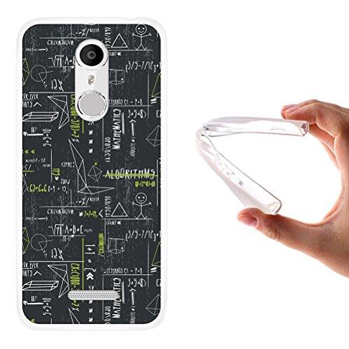 WoowCase Coolpad Torino S Hülle, Handyhülle Silikon für [ Coolpad Torino S ] Grüne mathematische Formeln Handytasche Handy Cover Case Schutzhülle Flexible TPU - Transparent