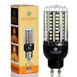 GreenSun LED GU10 Fassung 6W Mais Birne Beleuchtung SMD2835 80LEDs Leuchtmittel Corn Light Dimmable(100%-50%-25%) Kühlesweiß Energiesparlampe für Wandlampen, Tischlampen, Deckenlampen 220V-240V