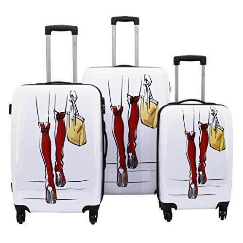 F|23 Set de bagage, blanc (Blanc) - 77046-4