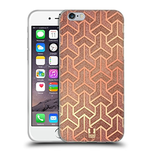 Head Case Designs Isometrische Fliesen Texture Art Deco Muster Soft Gel Hülle für Apple iPhone 6 / 6s Isometrische Fliesen