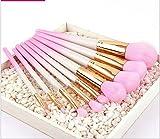 Make Up Pinsel Make Up Pinsel Set 9Pcs Anzug FüR AnfäNger KunststoffbüRste Rosa Gradient Holzgriff Und Aluminiumrohr Grundierung Konturpulver Concealer, Perfekt Als Geschenk