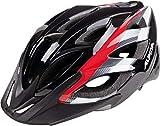 Alpina Erwachsene Seheos Fahrradhelm, Black/Red/White, 55-59 cm