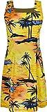 Damen-Kleid mit Hawaii-Motiv, für Sommer und Strand Gr. XL, Design-7
