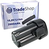 Trade-Shop Premium Li-Ion Akku 10,8V / 2000mAh ersetzt Black&Decker BL-1510 BL-1310 BL-1110 LB-12 LBXR-12 LBX-12 für EGBL-108 EGBL-108KB GKC-108 HPL-106 HPL-10IM HPL-10RS LDX-112 LDX-112C PSL-12