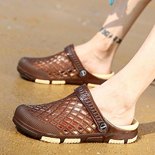 sandales d'été, pantoufles hommes, chaussures de plage, chaussures pour hommes F Brown