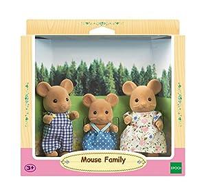 SYLVANIAN FAMILIES- Mouse Family Mini Muñecas y Accesorios, Multicolor (Epoch 5128)