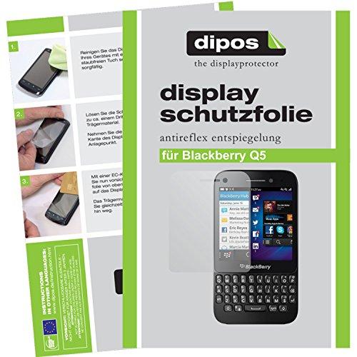dipos I 2X Schutzfolie matt passend für BlackBerry Q5 Folie Bildschirmschutzfolie