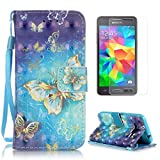 CaseHome for Samsung Galaxy Grand Prime SM-G530F PU Leather Hülle,Folio PU Leder Mit Wallet Magnetverschluss Standfunktion Fo