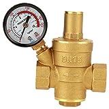 Válvula Reductora de PresióN Reductora de PresióN de Agua Dn15 Regulador de PresióN de Agua Ajustable Con Medidor de Medidor