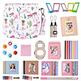 Goocor 15 in 1 Instax Mini 9 Camera Accessories Set for Fujifilm Instax Mini 9/ Mini 8/ Mini 8+ Camera, Includes Mini 9 Case,Albums,Six Color Filters,Rainbow Shoulder Strap,Pen ETC (Grúa)
