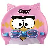 Cressi Kid Set - Set con gorra y gafas de natación para niña, color rosa