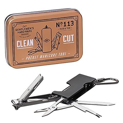 Gentleman's Hardware Men's Pocket Manicure Tool, Black