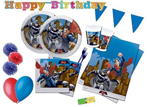 DECORATA PARTY Kit N 64 Coordinato Compleanno Batman