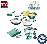 Genius Cerafit Fusion | Kombi-Set | Töpfe und Pfannen | 22 Teile | Bekannt aus dem TV | NEU