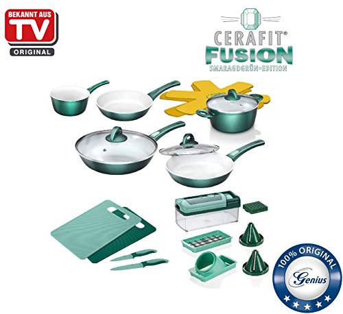 Genius CERAFIT Fusion | Combi Kit–Casseroles et poêles–22pièces–connu de la télévision | neuf